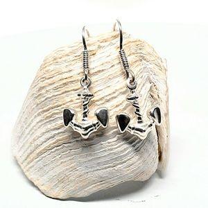 Anchor Earrings 925 Sterling Silver Dangle Earring